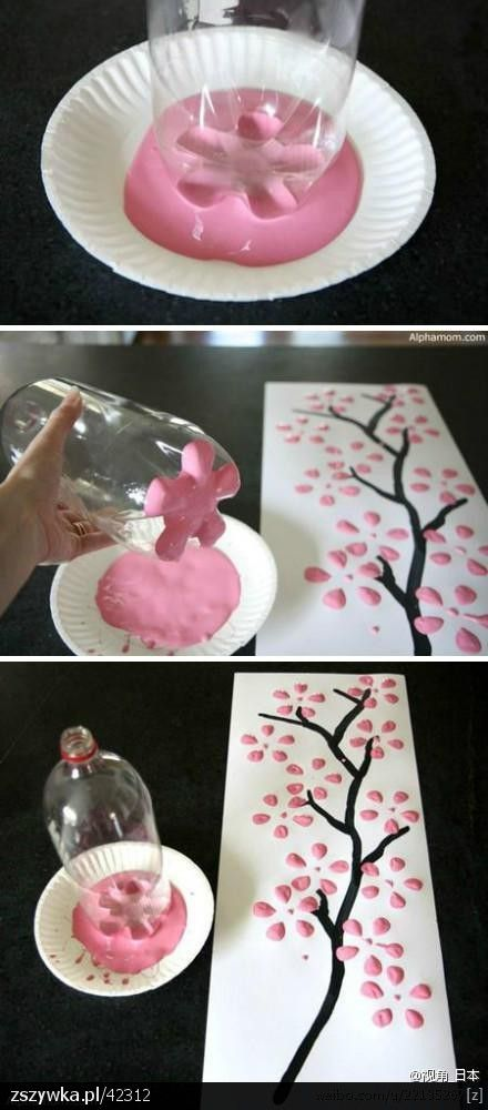 flores-estamapadas-con-botella-de-plastico
