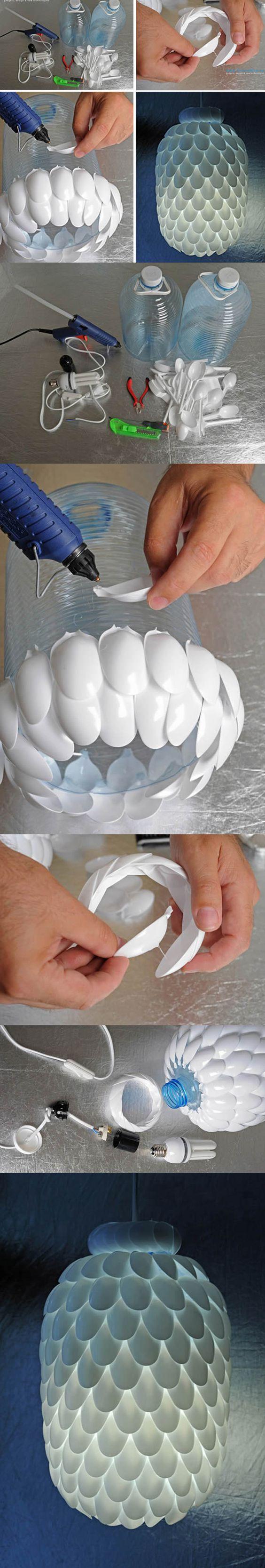 lampara-de-plastico-con-cucharas