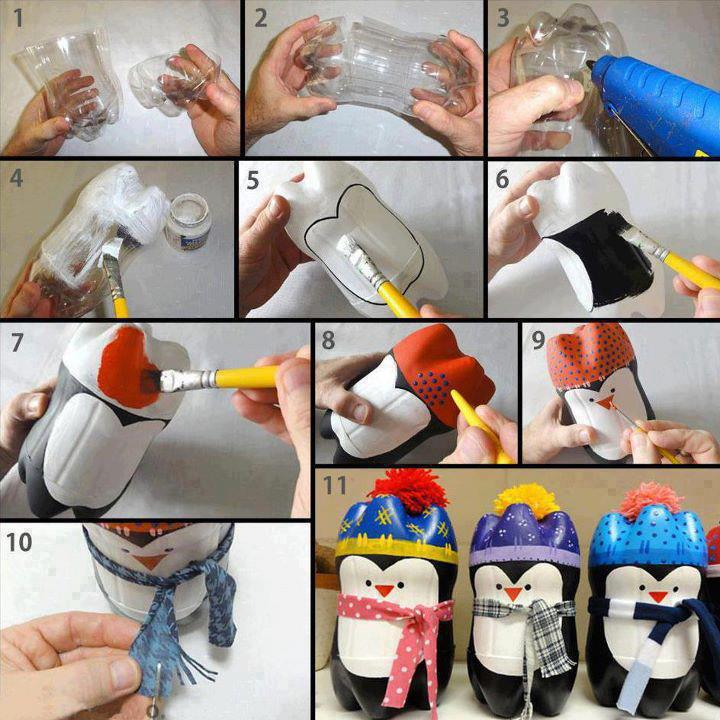 Pingüino Botella Plastico